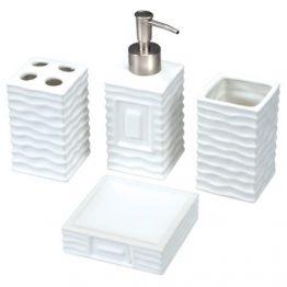 סט קרמי אמבטיה 4 חלקים