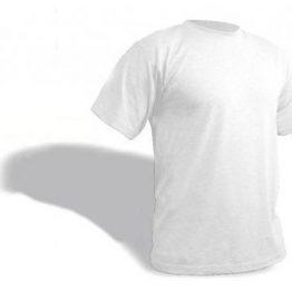 חולצת טריקו 160 גרם צבע לבן - לבן