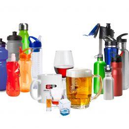כוסות ספלים ובקבוקים