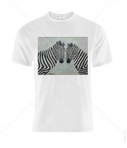 חולצה עם הדפס צילום של זברות