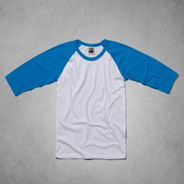 חולצת טריקו בייסבול אמריקאי שרוול 3/4 מידה S